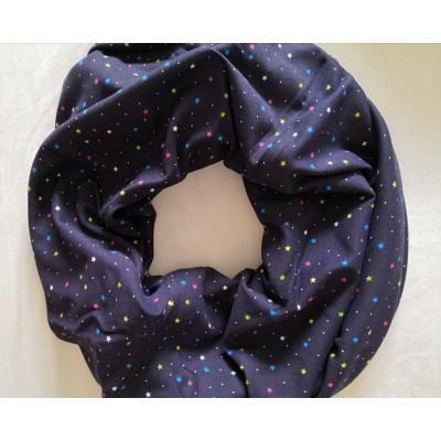 Милк-снуд цветные звезды на темно синем